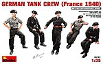 German Tank Crew France 1940 (5) -- Plastic Model Military Figure Kit -- 1/35 Scale -- #35191