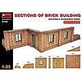 Sections of Brick Building -- Plastic Model Diorama -- 1/35 Scale -- #35552