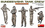Bundeswehr German Tank Crew (5) -- Plastic Model Military Figure Kit -- 1/35 Scale -- #37032