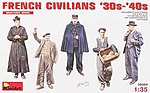 French Civilians 1930's-1940's -- Plastic Model Military Figure -- 1/35 Scale -- #38004