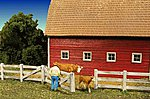 Barn Yard Fence Kit -- HO Scale Model Railroad Building Accessory -- #2310