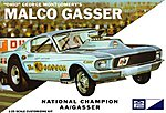 1967 Mustang Ohio George Malco Gasser Car (Light Blue) -- Plastic Model Car Kit -- 1/25 -- #804