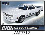 1986 Chevy El Camino -- Plastic Model Car Kit -- 1/25 Scale -- #pc712