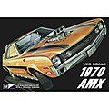 1970 AMC AMX Car -- Plastic Model Car Kit -- 1/20 Scale -- #pc814