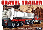 3-Axle Gravel Trailer -- 1/25 Scale Plastic Model Kit -- #pc823