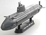 HMS Astute Submarine (Built-Up Plastic) -- Pre-Built Plastic Model Submarine -- 1/350 -- #37502