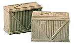 Large Wooden Crates (2) -- Model Railroad Building Accessory -- HO Scale -- #1580