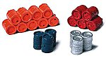 55 Gallon Oil Drums Stacked Assorted Colors -- Model Railroad Building Accessory -- HO Scale -- #160