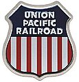 Embossed Die-Cut Metal Sign - Union Pacific -- Model Railroad Print Sign -- #10002