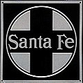 Embossed Die-Cut Metal Sign - Santa Fe -- Model Railroad Print Sign -- #10003