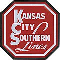 Embossed Die-Cut Metal Sign - Kansas City Southern -- Model Railroad Print Sign -- #10014