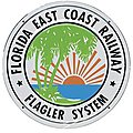 Embossed Die-Cut Metal Sign - Florida East Coast -- Model Railroad Print Sign -- #10016