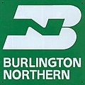 Embossed Die-Cut Metal Sign - Burlington Northern -- Model Railroad Print Sign -- #10027