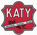 Embossed Die-Cut Metal Sign - Missouri-Kansas-Texas ''Katy'' -- Model Railroad Print Sign -- #10029