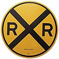 18'' Heavy Duty Aluminum Sign - Railroad Crossing -- Model Railroad Print Sign -- #10201