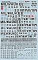 Milwaukee Road 4000 Cubic Foot & Smaller Covered Hoppers -- N Scale Model Railroad Decal -- #601347