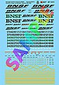 BNSF Diesel Locomotive Remote, Slugs, Switchers & Gensets -- N Scale Model Railroad Decal -- #601411