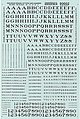 Alphabets & Numbers Railroad Roman Black -- HO Scale Model Railroad Decal -- #90002