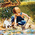 Summertime Friends 1000pcs -- Jigsaw Puzzle 600-1000 Piece -- #71541