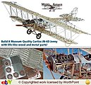 Curtiss Jn-4d Jenny 1917 -- Model Airplane Kit -- 1/16 Scale -- #1010