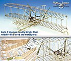 Wright Flyer -- Model Airplane Kit -- 1/16 Scale -- #1020