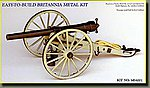 Whitworth Breech-Loading 12-Pounder Civil War Cannon -- Model Cannon Kit -- 1/16 Scale -- #4001