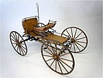 Western Mountain Buckboard -- Wooden Model Buckboard Kit -- 1/12 Scale -- #6004