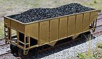 Coal Loads for Athearn 34' 2-Bay Hopper (2-Pack) -- HO Scale Model Train Freight Car -- #81200