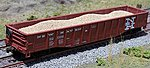 Sand Loads for Athearn 50' Mill Gonodola (2-Pack) -- HO Scale Model Train Freight Car -- #81204