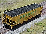 Coal Loads for Athearn 40' Quad Hopper (2-Pack) -- HO Scale Model Train Freight Car -- #81206