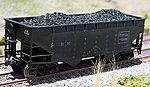 Coal Loads for Atlas 2-Bay Hopper (2-Pack) -- HO Scale Model Train Freight Car -- #81300