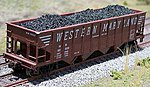 Coal Loads for Bowser 70 Ton Quad Hopper (2-Pack) -- HO Scale Model Train Freight Car Load -- #81400