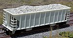 Gravel Loads for Walthers Ballast Hopper (2) -- HO Scale Model Train Freight Car Load -- #81704