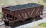 Coal Loads for Walthers/Proto 2-Bay War/Emergency -- HO Scale Model Train Freight Car Load -- #81722
