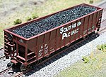 Coal Loads for Walthers/Proto 3-Bay Eastern (2) -- HO Scale Model Train Freight Car Load -- #81723