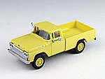 F-100 4x4 Pickup Yellow -- HO Scale Model Railroad Vehicle -- #30474