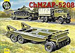 ChMZAP 5208 Military Trailer -- Plastic Model Military Vehicle Kit -- 1/72 Scale -- #7260