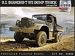 US Diamond T972 Dump Truck with Late Open Cab -- Plastic Model Military Vehicle -- 1/35 -- #35806