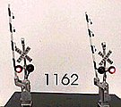 Crossing Gate Signals - Assembled - Crossbuck -- HO Scale Model Railroad Accessory -- #1162