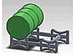 Barrel Rack Kit (5 Different Racks & 24 Barrels) -- HO Scale Model Railroad Accessory -- #6120
