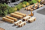 Fresh-Cut Lumber Drying Pile Kit (8) -- HO Scale Model Railroad Acessorry -- #14214