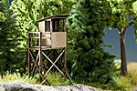 Elevated Deer Stand Kit -- HO Scale Model Railroad Accessory -- #14341