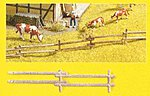 Field Fence Kit (18) -- N Scale Model Railroad Accessory -- #33010