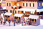 Christmas Market Stall Kit -- HO Scale Model Building -- #66412