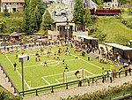 Complete Football (Soccer) Scene -- HO Scale Model Railroad Building -- #66830
