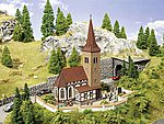 Church Kit with Ringing Bells -- HO Scale Model Railroad Building -- #66906