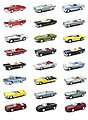 1/43 City Cruiser Classic American Car Counter Display (24 Total) (Die Cast)