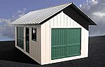 Trackside Shed 1-Story Building Kit -- O Scale Model Railroad Building -- #503