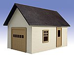 Garage Kit -- O Scale Model Railroad Building -- #505