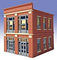 George's 5&10 2-Story Building Kit -- O Scale Model Railroad Building -- #827